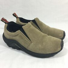 Merrell Jungle Moc Mocassins Loafers Slip On Shoes Taupe Suede Women's US 7.5/38