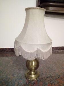 Lampada Da Tavolo Ottone Vintage