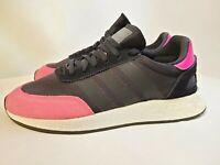 New Adidas Originals I-5923 Iniki Core Black Pink BOOST BD7804 Men's Size 9.5