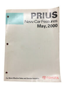 Toyota New Training Manual Car Features May 2000 Book Prius Models
