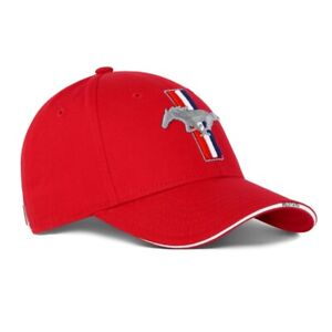 Ford Lifestyle New Genuine Ford Mustang Red Baseball Cap Hat 35030415