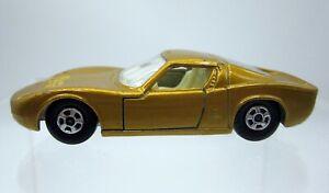 Vtg Matchbox Superfast Lesney #33 Lamborghini Miura Gold Diecast Car