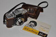 Vntg 35mm Viewfinder Graflex Century 35 A Film Camera  f3.5 45mm Case & Manuel