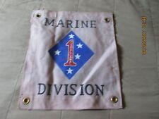 WWII US MARINE CORP USMC  1 ST  MARINE DIVISION    FLAG