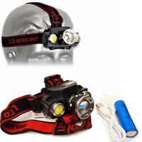 LED Head Torch Rechargeable Battery Included Sport Headlight Bright Headlamp