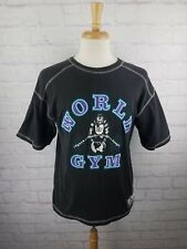 Vtg 90's World Gym Graphic T Shirt Men's MED Weight Lifting USA Gorilla 1990s