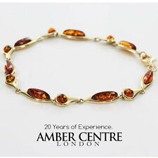 ITALIAN MADE BALTIC AMBER BRACELET IN 9CT GOLD -GBR067  RRP£500!!!