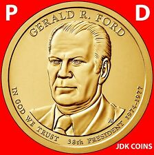 2016 P&D GERALD FORD PRESIDENTIAL DOLLAR SET FROM MINT ROLLS UNCIRCULATED