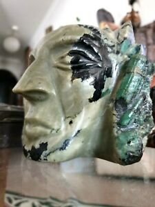 Old Mayan Carved Jade Head …beautiful collection and display piece
