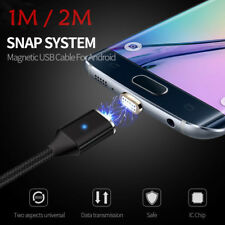 1M 2M 2.4A Magnetic LED Micro USB Charging Charger Cable for Android Samsung LG