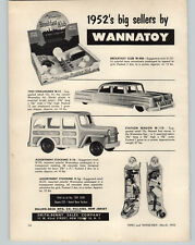 1952 PAPER AD Smith Benny Wannatoy Toys Woody Station Wagon Tea Set Breakfast