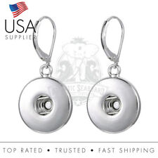 Snap Lever Back Earring Base 18mm - Fits 18-20mm snaps 1 pair