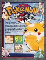 Pokemon Yellow Pikachu Promo Nintendo Game Boy Print Ad Original Art 7.75x10.50
