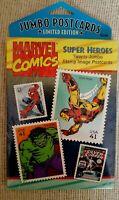 2008 LIMITED EDITION USPS MARVEL COMICS SUPER HEROES 20 JUMBO POSTCARDS