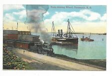 YARMOUTH, NS  Train leaving Wharf Publisher Harry McKinlay, Yarmouth, NS.