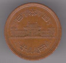 Japón 10 yenes 1974 año 49 Moneda De Bronce-Emperador Hirohito-Showa