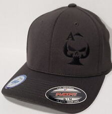 Ace of Spades Sniper Embroidered FLEXFIT Gray Cap Hat, Cool & Dry 6597