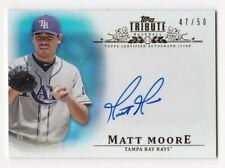 MATT MOORE 2013 Topps Tribute Certified Blue Autograph Auto Rays 47 / 50 NM - MT