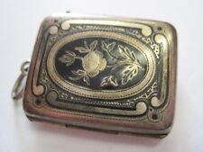 Jugendstil Medaillon Anhänger Emaille um 1900 Boheme