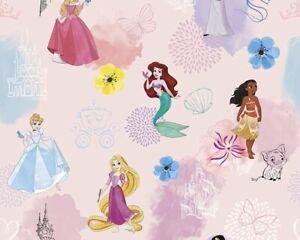 DISNEY PINK PRINCESS MERMAID 100 cotton kids digital print FQ pink meter