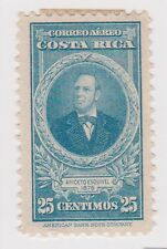 (CRA-248) 1942 Costa Rica 25c blue portrait (A)