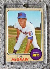 1968 Tug McGraw # 236 New York Mets Topps Baseball Card NY