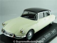 CITROEN DS19 1957 CAR MODEL 1/43RD SIZE WHITE 4 DOOR SALOON VERSION R0154X{:}