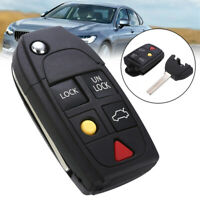 5 Button Flip Remote Key Fob Case Shell Fit For VOLVO S60 S80 V70 XC70 XC90 /