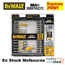 DeWALT MAX Impact Driver Screwdriving Bit Set 31 Pieces DWAMI31 EXPRESS POST