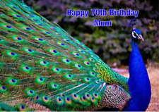 Personalised Peacock Birthday Card
