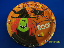 "Spooky Friends Witch Cute Kids Halloween Theme Party 9"" Paper Dinner Plates"
