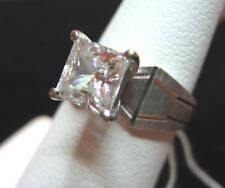 10K WHITE GOLD PRINCESS CUT ENGAGEMENT OR PROMISE  RING