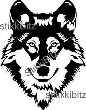 Wolf Head Husky Dog Car Van Window Land Rover Bike Wall Fridge Sticker Decal W2
