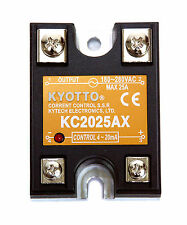 10pc KYOTTO Current Control SSR KC2025AX DCin= 4~20mA ACout=24~280VAC 25A Taiwan
