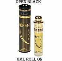 Al-Nuaim Open Black Floral Attar Perfume Alcohol Free Unisex Fragrance - 6ml