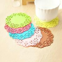 Silicone Non-slip Placemat Kitchen Table Cup Bowl Pad Coasters Tableware Mat