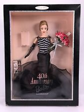 Mattel 40TH Anniversary Barbie 1999 New In Box With Miniature Barbie