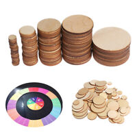 10-60mm DIY Wooden Slices Round Circles Ornament Handmade Craft Chip Card Decor
