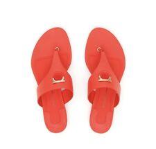 410da4bfe992 Salvatore Ferragamo Womens Enfola Thong Sandal Red Orange Thong Sandals sz  6 New