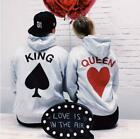 Card King  Queen Hoodies Matching Outfit For Couples