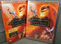 The Lion King *New & Sealed w/ Slipcover* Platinum Edition Out Of Print OOP DVD