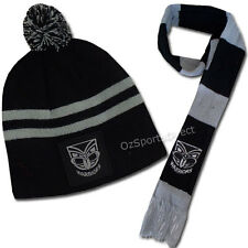 New Zealand Warriors Baby Beanie Hat and Scarf Set