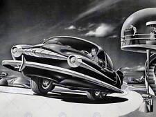 La PITTURA surreale Fantasy Sci Fi futuro Car Design Cool strano USA ART PRINT cc984