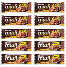 10x NESTLE Muesli with Chocolate Chips Healthy Breakfast Cereal Bars 40g 1.4oz