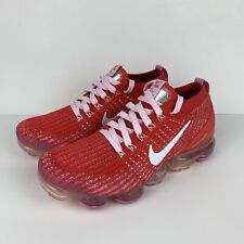 Nike Air Vapormax Flyknit 3 Women's Size 8 Red Pink White CU4756-600