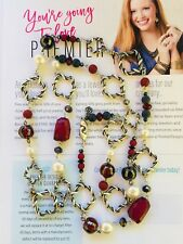 Premier Designs Jewelry BORDEAUX Hematite plated/Glass/Faux pearl Necklace