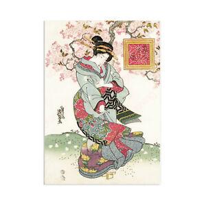 Japanese Geisha Wall Art Print Poster Keisai Maiko Bijin Sakura Beautiful A3