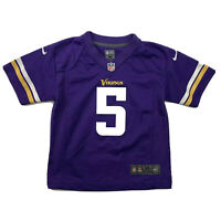 Teddy Bridgewater Purple Jersey Nike NFL Minnesota Vikings Youth Medium EUC #5