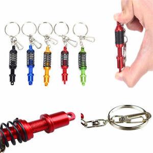 Absorber Alloy Car Part Key Ring Keychain Adjustable Coilover Spring Keyring