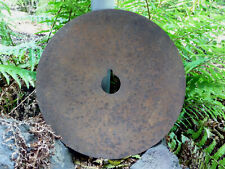 """Vintage Plow 19"""" Round Disc Blade Notched Circular Center Hole Hardened Steel"""